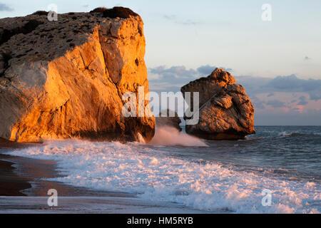 La Roca de Afrodita (Petra tou Romiou), cerca de Paphos, en Chipre