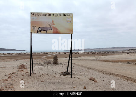 Agate Beach en Luderitz en Namibia
