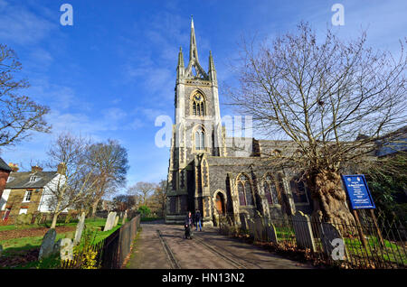Faversham, Kent, Inglaterra. Santa María de la Caridad de la iglesia parroquial. Corona corona o chapitel añadido 1794-97