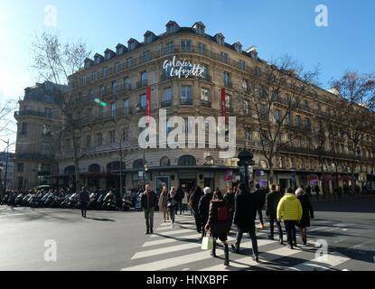 Galeries Lafayette, en el Boulevard Haussmann, París, Francia