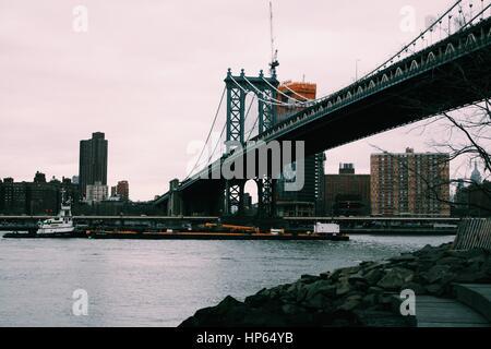 Manhattan Bridge Foto de stock