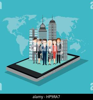 Concepto de medios sociales con el diseño de iconos, ilustración vectorial 10 gráfico EPS.