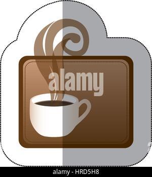 Brown squard pequeño símbolo de la taza de café