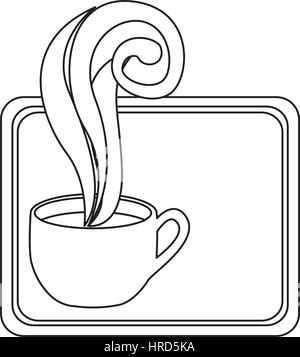 Figura pequeña squard símbolo de la taza de café