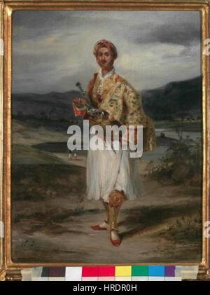 Eugene Delacroix - 1798-1863 Hrabe reckem kroji Palatiano v Foto de stock