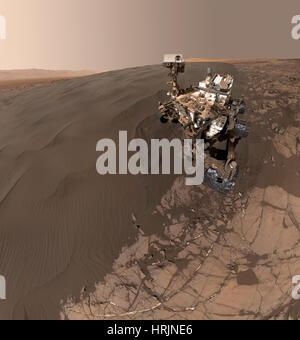 La curiosidad Rover Self-Portrait Foto de stock