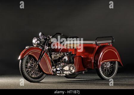 Envío indio remolcar 3 Wheeler 1940. Artista: Simon arcilla.