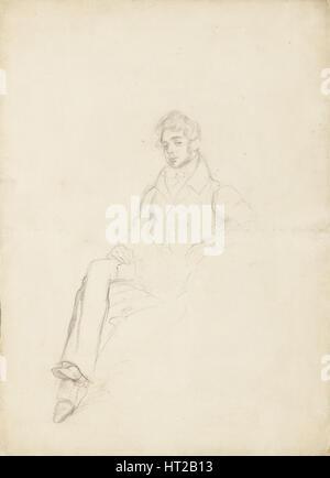 Retrato del conde Anatole Nikolaievich Demidov, primer príncipe de San Donato (1812-1870), 1864. Artista: Delacroix, Foto de stock