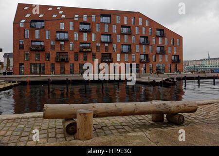 K, los nuevos edificios residenciales en el centro de Copenhagen, Dinamarca