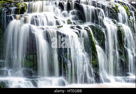 Purakaunui Falls, cascada, los Catlins, Otago, Southland, Nueva Zelanda
