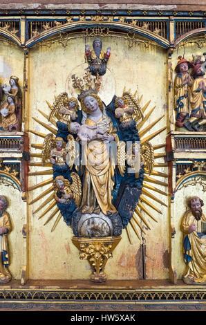 Dinamarca, Zelanda, Copenhague, El Museo Nacional, el cristiano del siglo xiv altar detalle