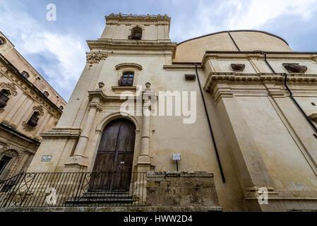 Siglo XVIII Iglesia de Santa Clara de Asís (Chiesa di Santa Chiara), diseñado por Rosario Gagliardi en la ciudad de Noto, Provincia de Siracusa (Sicilia, Italia)