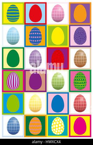 Huevo de pascua concentración juego - imprimir dos veces en papel pesado, córtela y jugar encontrar pares.