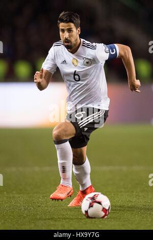 En Bakú, Azerbaiyán. 26 Mar, 2017. Alemania Sami Khedira en acción durante la Copa Mundial de la FIFA la fase de grupo calificador partido de fútbol entre Azerbaiyán y Alemania en Bakú, Azerbaiyán, el 26 de marzo de 2017. Foto: Marius Becker/dpa/Alamy Live News