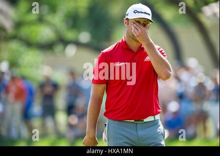Austin, Texas, EE.UU. 26 de marzo de 2017. Jon Rahm en acción en los Campeonatos del Mundo de Golf Tecnologías Dell Foto de stock