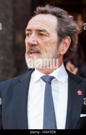Londres, Reino Unido. 15 de marzo de 2017. Actor Robert Lindsay atiende el Prince's Trust celebrar los éxitos Awards en el Palladium de Londres.