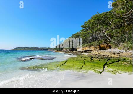 Extremo sur de Murray's Beach, el Parque Nacional de Booderee, Jervis Bay, Nueva Gales del Sur (NSW, Australia Foto de stock