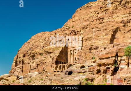 Las Tumbas Reales de Petra, sitio del patrimonio mundial de la UNESCO