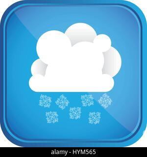 El clima de invierno día icono de botón
