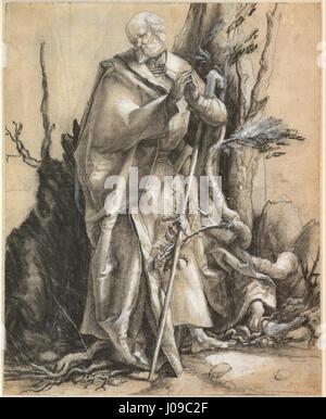 Alberto Durero - Saint barbudo en un bosque, c. 1516 -
