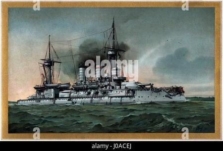 S.M. Linienschiff Kurfürst Friedrich Wilhelm - restauración Foto de stock