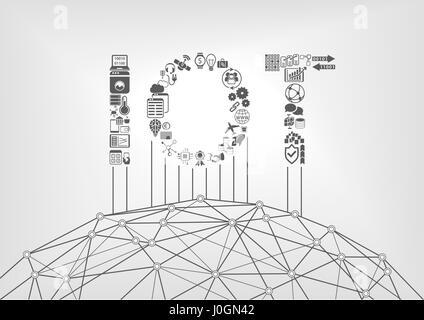 Internet de las cosas el concepto con IOT texto