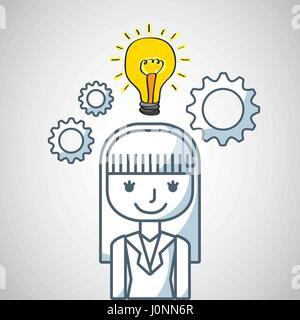 Persona de negocios con iconos de marketing social