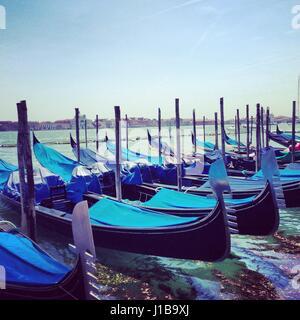 Las góndolas en Venecia.