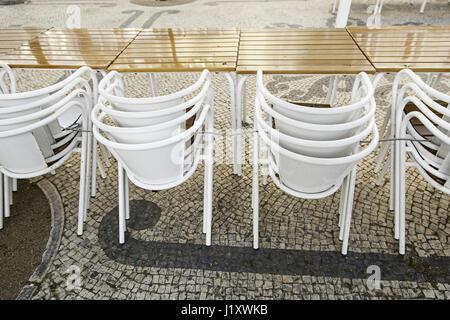 Sillas Terraza Bar Detalle De Un Lugar Para La Relajación Y