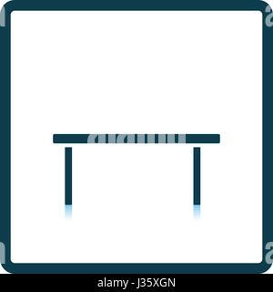 Mesa De Café icono. Diseño reflejo de sombra. Ilustración vectorial.