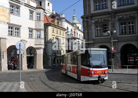 República Checa. Praga. En el año 2015. Tranvía