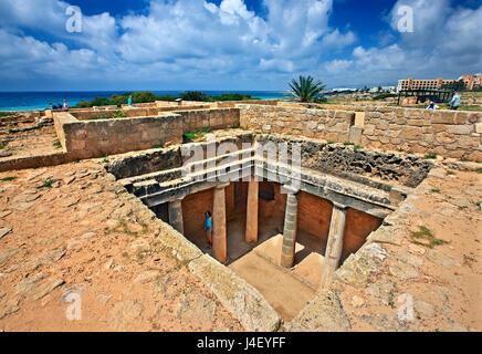 Tumba 3, las tumbas de los Reyes (Patrimonio de la Humanidad de la UNESCO), en Paphos, Chipre. Paphos es una de las 2 capitales europeas de la cultura para 2017