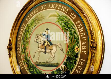 Alabama Montgomery County, Montgomery, Primera Casa Blanca de la Confederación, Jefferson Davis, Guerra Civil, sello, antigüedad, historia, Sur, casa presidencial, construido