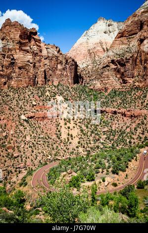 Zion - Monte Carmelo autopista, el Parque Nacional de Zion, Utah Foto de stock