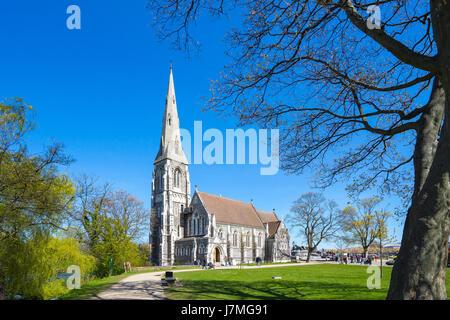 La iglesia de St Alban en la ciudad de Copenhague, Dinamarca.