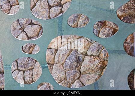 La pared de la roca de fondo, textura fluida y textura.
