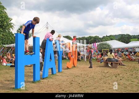 30 Aniversario de heno, Hay Festival 2017, heno-on-Wye, Brecknockshire, Powys, Gales, Gran Bretaña, Reino Unido, UK, Europa