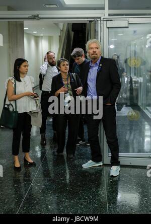 Naciones Unidas, Nueva York, EEUU, 08 de junio de 2017 - Sir Richard Branson, Fundador y Presidente de Virgin Group, participó en la Primera Conferencia del Océano hoy en la Sede de la ONU en Nueva York. Foto: Luiz Rampelotto/EuropaNewswire   uso en todo el mundo