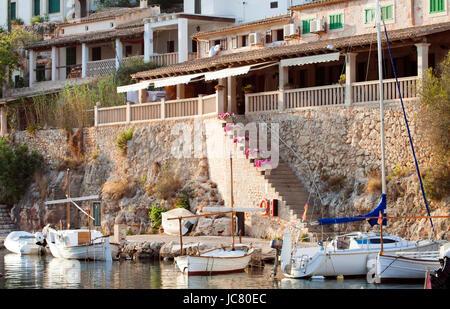 Puerto de Cala Figuera, aldea de pescadores, Mallorca, España