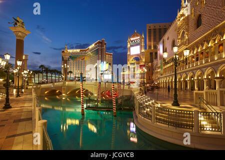 El hotel Venetian en Las Vegas, Nevada, Estados Unidos