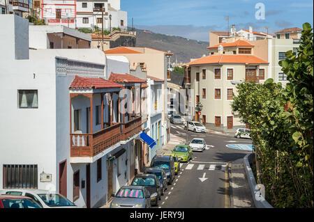 Candelaria casco antiguo calles Foto de stock