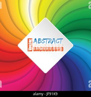 Revoloteo rainbow fondo cuadrado Foto de stock