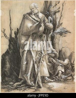 Alberto Durero - Saint barbudo en un bosque, c. 1516 - Proyecto de arte de Google