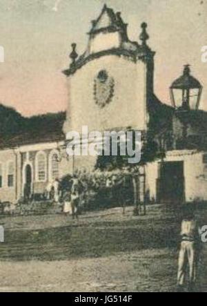 Praça Dr. Milton e Hospital de Misericórdia Cachoeira Bahia Foto de stock