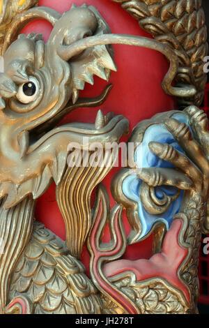 Kong Meng San Phor Kark Véase Monasterio. El dragón. Singapur.