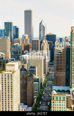 Los rascacielos, Chicago, Illinois, Estados Unidos de América, América del Norte
