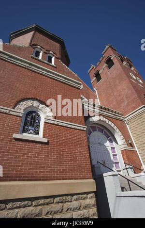 Montgomery, Alabama, EE.UU., la Primera Iglesia Bautista, hito en la lucha por los derechos civiles de los Afroamericanos