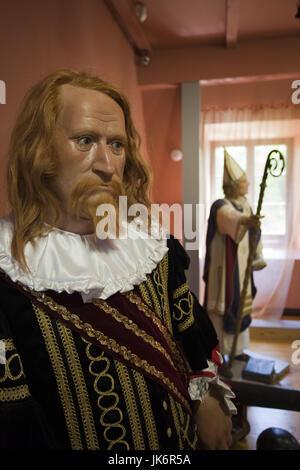 Letonia, al noreste de Letonia, Vidzeme, Región Costa Dunte, Break del Barón Karl von Munchausen, galería de famosos letones, estatua de Duke Jacob de Curlandia, 1610-1682