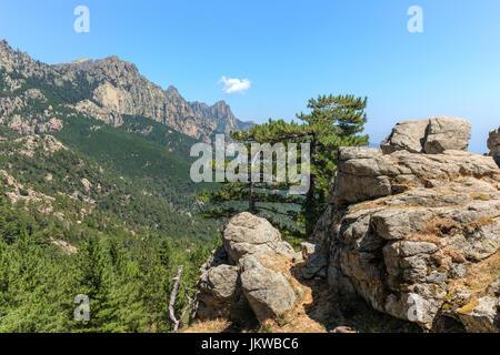 Aiguilles de Bavella, Parc naturel regional de Corse, Córcega, Francia