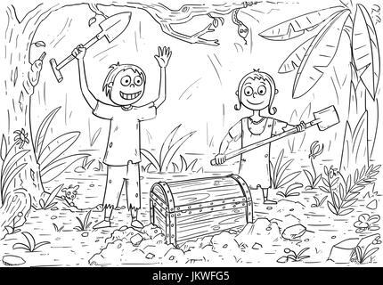Pirata ilustración para el libro de colorear dibujos animados ...